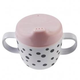 DONE BY DEER Tasse couvercle à bec Happy Dots rose